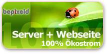 Grüner Server, grüne Webseite - bepixeld