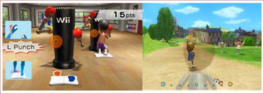Boxen und Joggen mit Wii Fit
