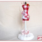 Nadelkissen Schneiderpuppen - pin cushion dress doll