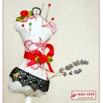 Nadelkissen Minatur-Schneiderpuppe - Dress Form Pincushion