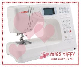 Is it love? Miss Tiffys neue Nähmaschine, Janome Memory Craft 4900 QC