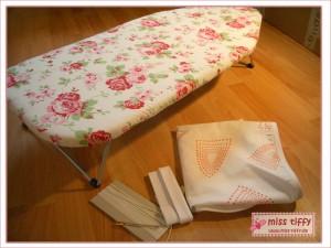 Neuer Bezug für's Tischbügelbrett: Rosali-Stoff