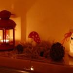 Die Elch-Windlichter im Dunkeln, mit Teelichtern