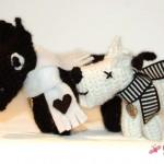 Neues Modell: Häkelhund in schwarz und in weiß