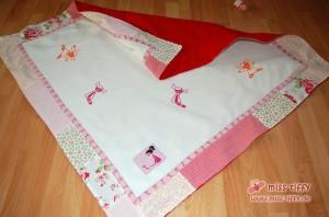 Das Ergebnis: Puppige Baby-Quilt-Decke