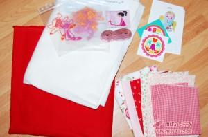 Material für die kuschlige Baby-Quilt-Decke