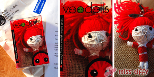 Gewonnen :) Die Trinity-Voodoo-Doll aus Schweden für Miss Tiffy!