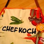 Das Herzstück: die Chefkoch-Schürze mit Koch-Orden