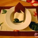 Küchenset: Tischset und Serviette