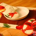 Die Topflappen: Ofenhandschuh und Topflappen