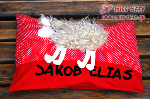 Schaf-Kuschel-Kissen mit Wunschname