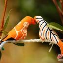 Stoff-Vögel