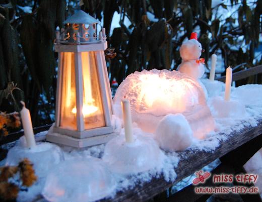 Leuchtender Eiskuchen