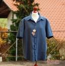 Leinenhemd in Blau für den Binenstich-Papa