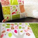 Kinderzimmer-Kissen zum Turteltauben-Quilt