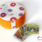 Kissenmodell 2: Das Wellness-Paket mit Yoga-Kissen und Meditationsmusik