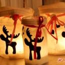 Lichttüten / Windlichter mit Elchen