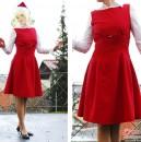 Weihnachtskleid Simplicity 7275 bzw. engl. 3676
