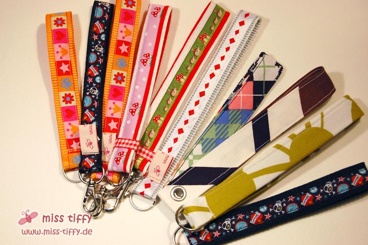 Neue Schlüssebänder - für Weiblein links, rechtds auch für Männlein