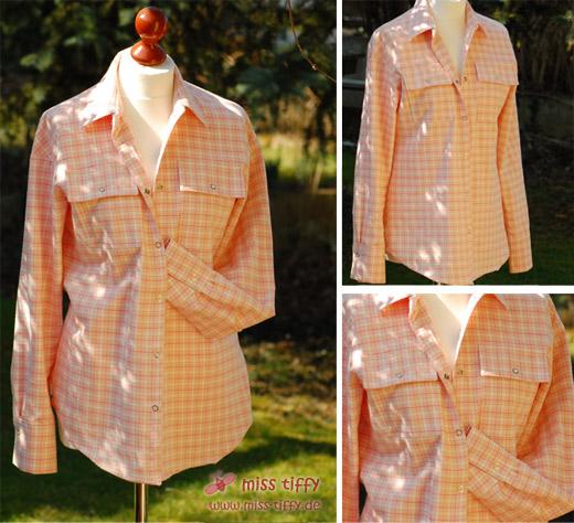 Hemdbluse - mein erstes selbstgenähtes Kleidungsstück.