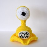 Yellow See Slug Plush Toy - Crochet Amigurumi © Crafty Missus D