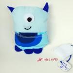 Mr GetWell, das Gute-Besserung-Monsterchen in blau