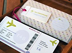 Schön für Hochzeiten und Geldgeschenke: Individueller Boardingpass