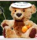 Kommt komplett mit Maske, Sense und Kürbissen: Halloween-Grusel-Teddy