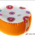 Yoga-Kissen für Meditation, als Sitzkissen oder Bodenkissen in Orange