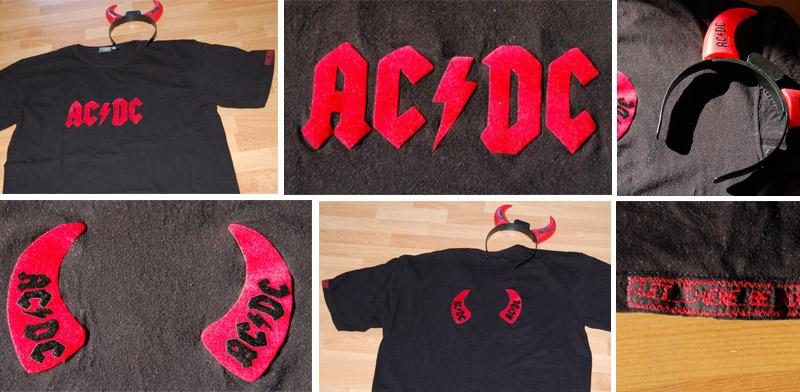 AC/DC-Shirt für den Rocker im Tiffy-Gatten :-)