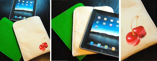 Zwei iPad-Hüllen aus Textilfilz für den Tiffygatten