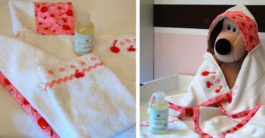 Kuschliges Kapuzen-Badehandtuch für kleine Bademäuse