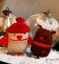 Zwei dicke Weihnachtsfreunde: Winterspatz und Weihnachtselch