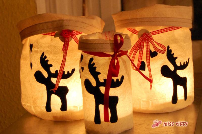 Winter Und Weihnachten Elch Windlicht Binenstich