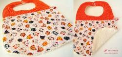 Orange-gepunktet und ♥-allerliebster Kätzchenstoff