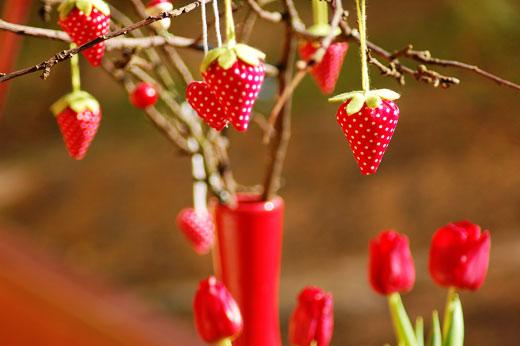 Hallo Frühling: Stofferdbeeren, bis die echten wieder wachsen