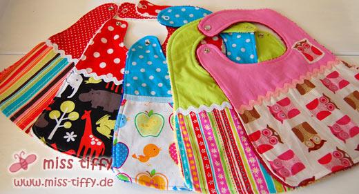 Neue Lätzchen für den Tiffy-Shop