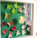Schmetterlinge für das Babyzimmer - in den passenden Babyzimmerfarben.