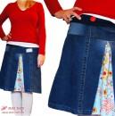 Retro-Röckchen (allerlieblichst) aus alter Jeanshose