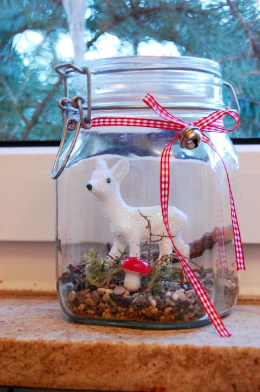 Schnelle weihnachtsdeko binenstich - Deko glas weihnachtlich dekorieren ...