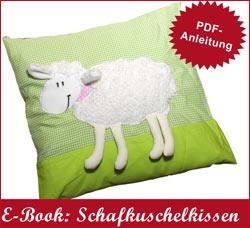 Schnittmuster und Anleitung für Kuschelkissen Schaf