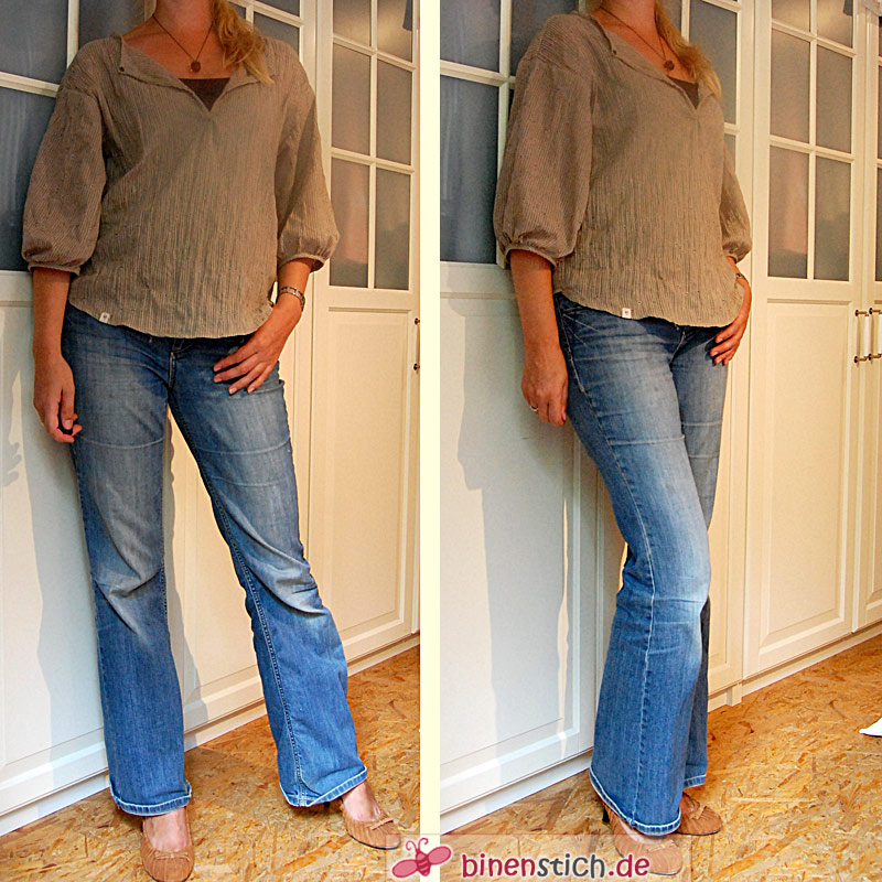 Hose aus hemd nahen