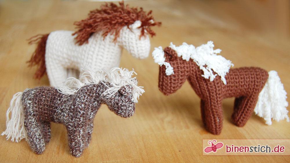 Pferd häkeln: Anleitung für das Häkelpferd online! | Binenstich