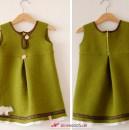 Mini-Tunika (von Allerlieblichst) aus grünem Wollwalk