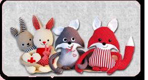Nähanleitungen für Hase, Fuchs, Eule & Co. im Shop