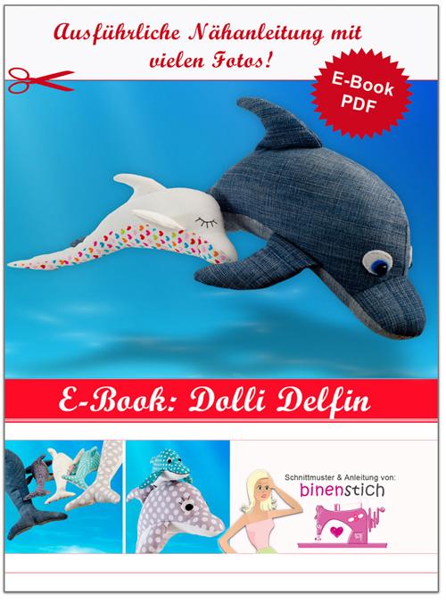 Delfin nähen: Anleitung + Schnittmuster | binenstich.de