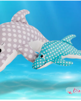 Dolli Delfin nähen Anleitung und Schnittmuster