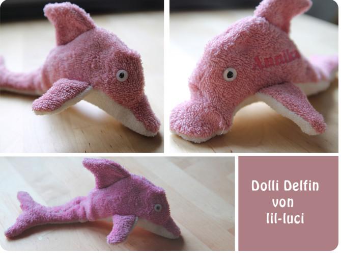Delfin nähen: Nähbeispiel von Lil-Luci für binenstich.de