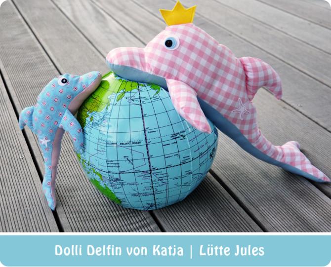 Delfin nähen: Nähbeispiel von Katja | Lütte Jules für binenstich.de