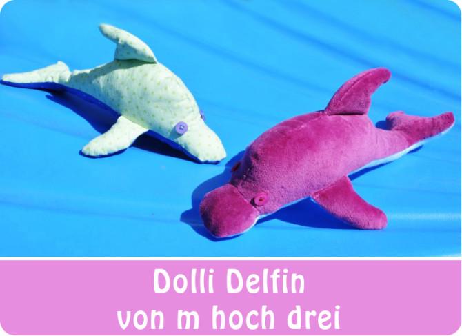 Delfin nähen: Nähbeispiel von Marion   m hoch drei für binenstich.de